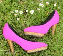 Tuesday Shoesday Shoe makeover with High Pheels in hot pink
