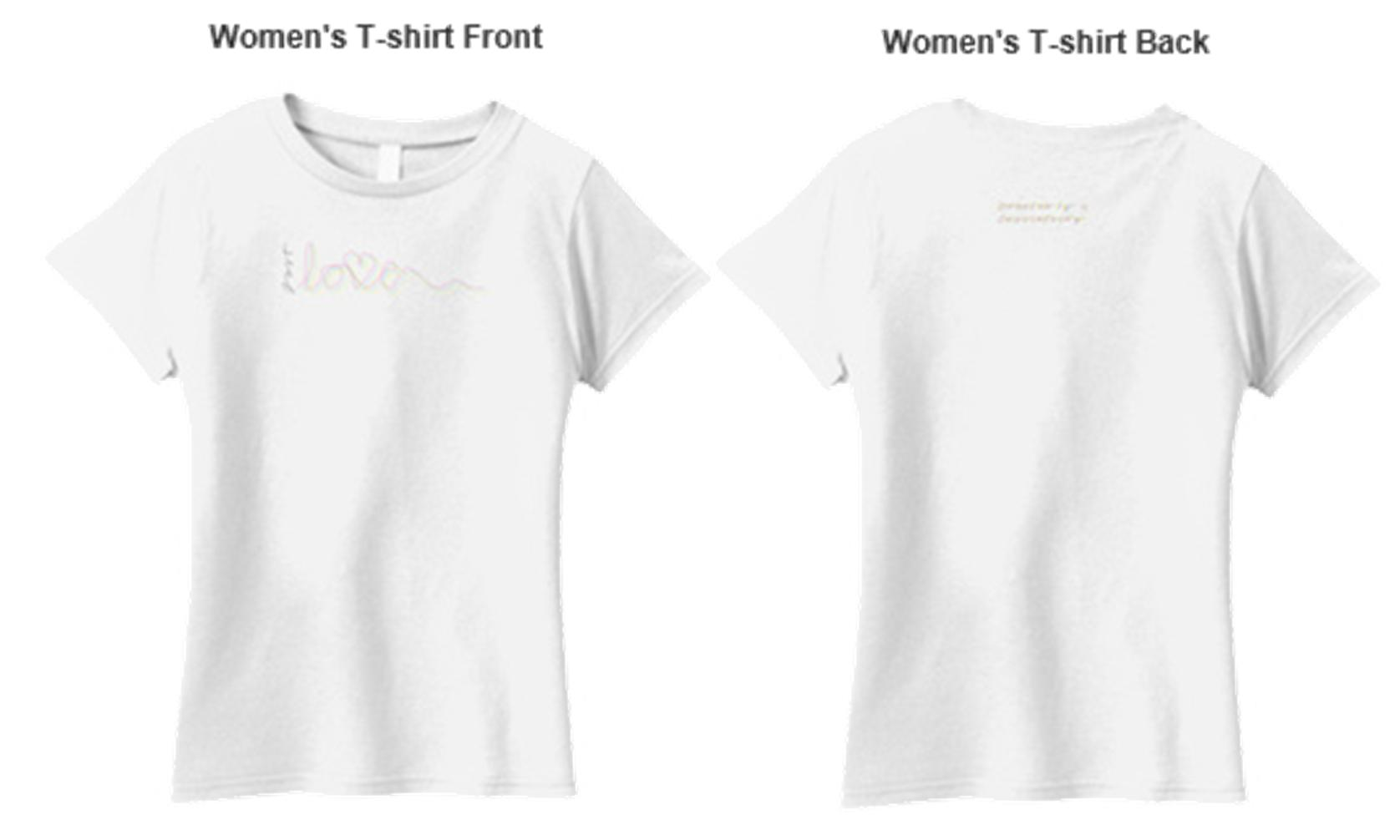 Couple t shirt design white -  Cassiefairy Womens T Shirt Design