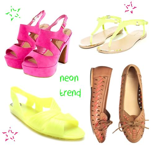tuesday shoesday ideas for getting the summer 2014 neon trend on a budget