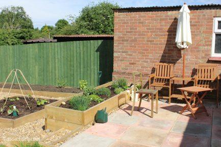 DIY herb garden planter and patio
