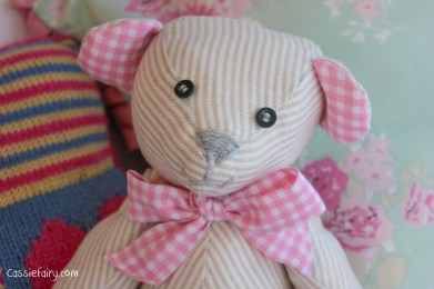 DIY sew your own teddy bear christening gift-2
