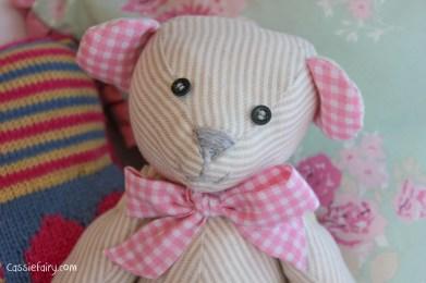 DIY sew your own teddy bear christening gift-2