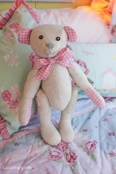 DIY sew your own teddy bear christening gift-3
