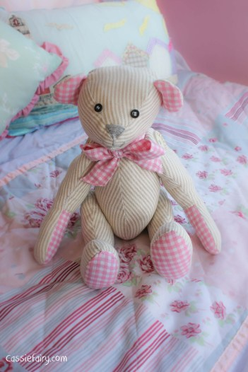 DIY sew your own teddy bear christening gift-5