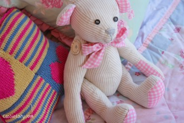 DIY sew your own teddy bear christening gift