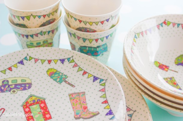 Melamine 'Festival' plates for afternoon tea from The Caravan Trail