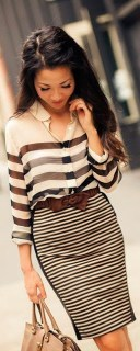 Women's Business Fashion Trends Stripes
