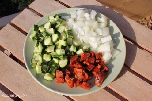 chorizo and veg pasta recipe