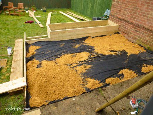 how to build a terraced patio garden-1