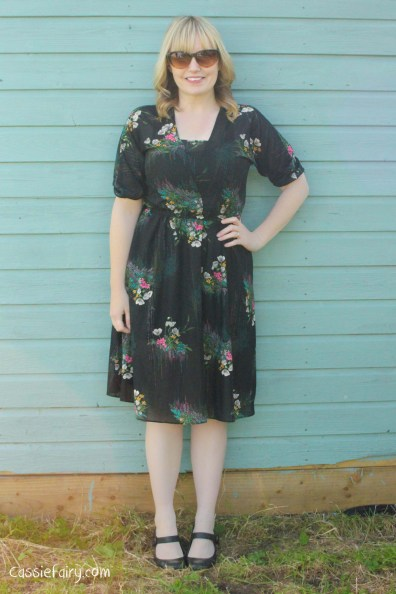 great sewing tips for shortening a vintage dress-2