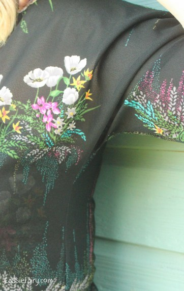 sewing tips for fixing the side seams on a vintage dress