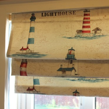 Lined Roman Blind Sewing Project Finished 1