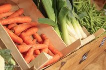 buying seasonal vegetables from local farm shops