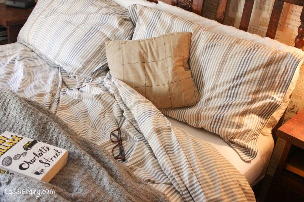 natural textures and colours in this bedroom makeover-9