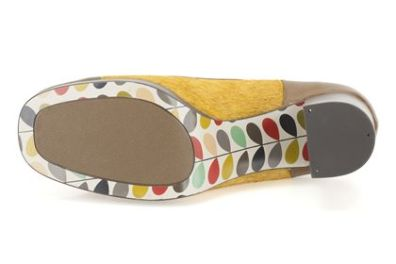 orla kiely shoes from clarks with patterned soles