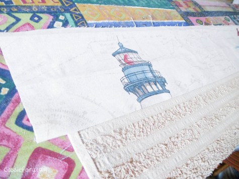 DIY sewing bias binding project for bathroom towels-4