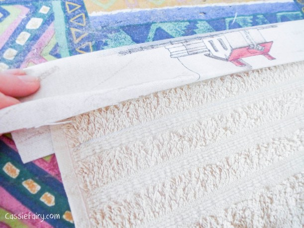 DIY sewing bias binding project for bathroom towels-5