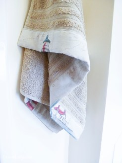 DIY sewing project - Bias binding on towels