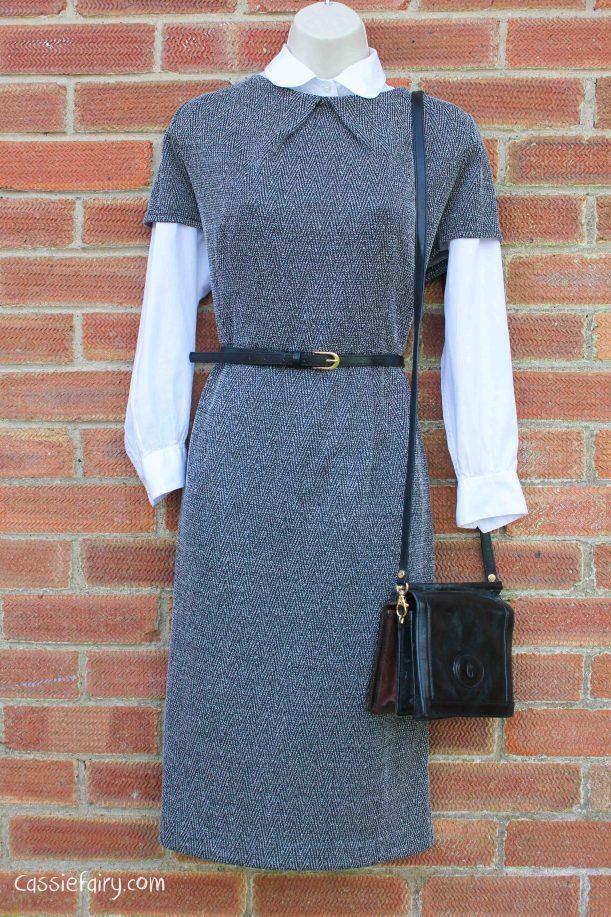 David Emanuel tweed dress styled 4 ways-9