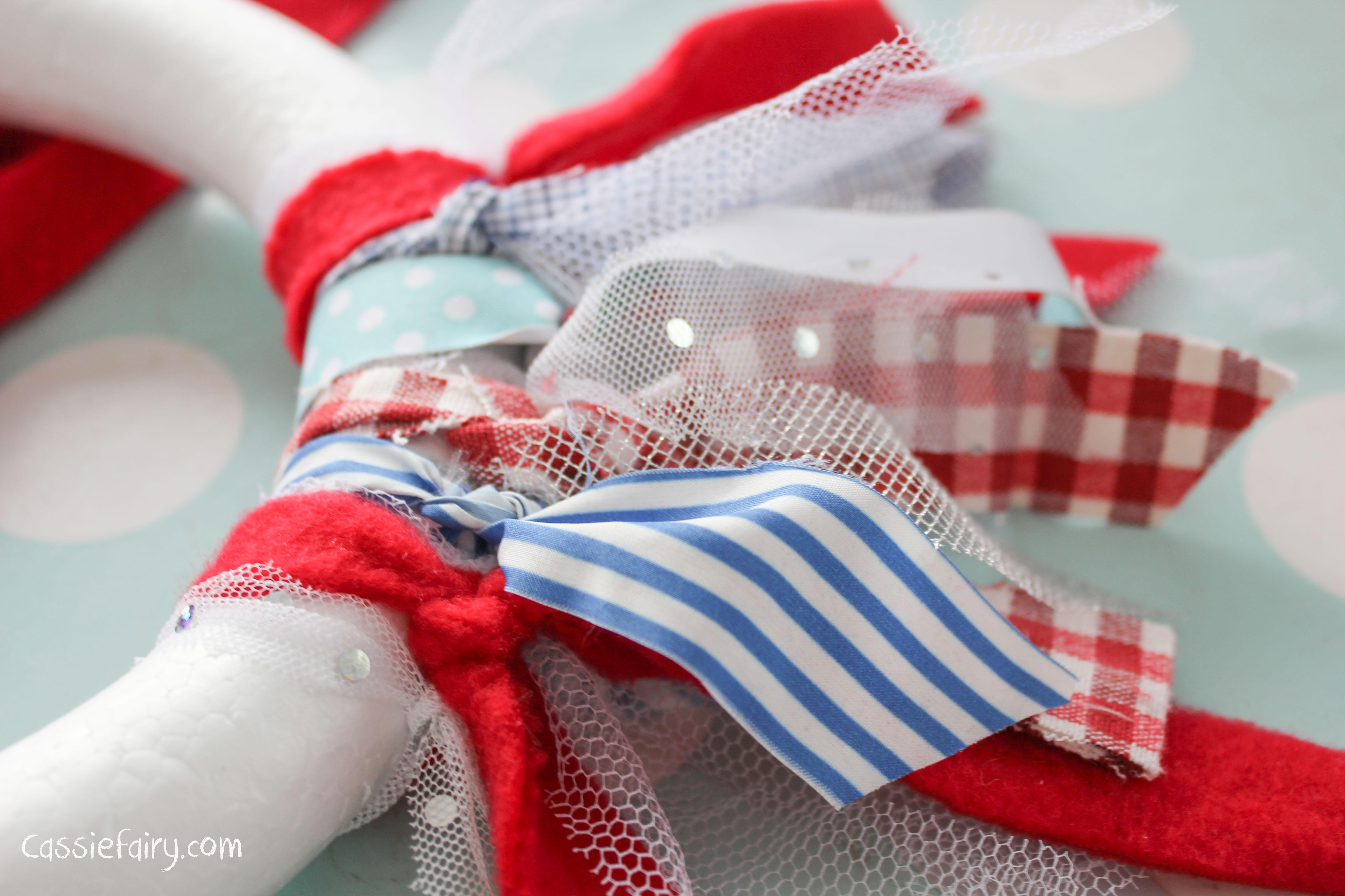Diy Fabric Wreath My Favourite Decorations