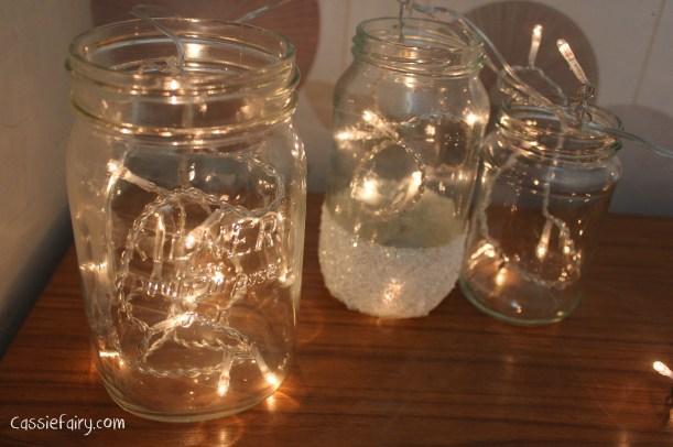 DIY fairy lights kilner jar display for christmas-3