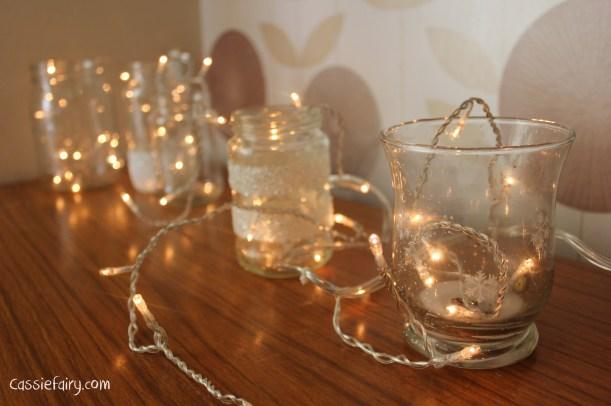 DIY fairy lights kilner jar display for christmas-4