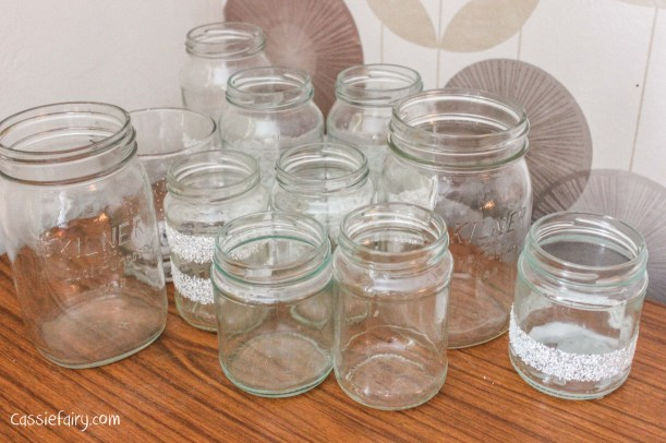 DIY fairy lights kilner jar display for christmas-6