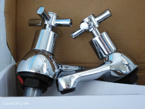 DIY fitting new taps to makeover a bathroom sink