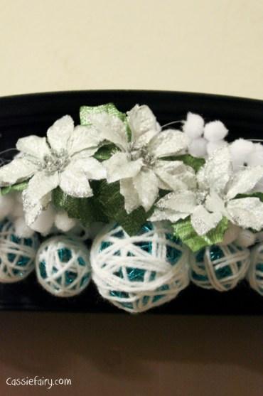 DIY christmas decoration mantlepiece garland ideas-10