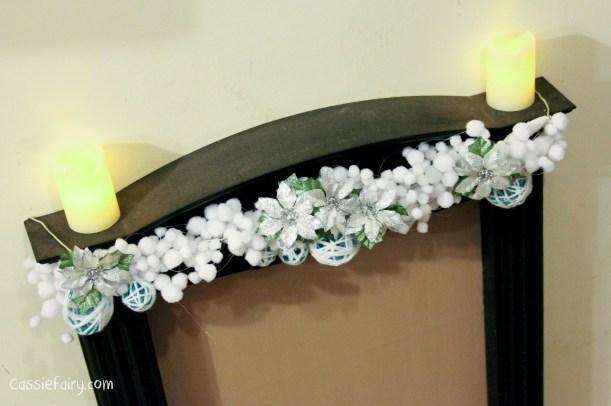 DIY christmas decoration mantlepiece garland ideas-12