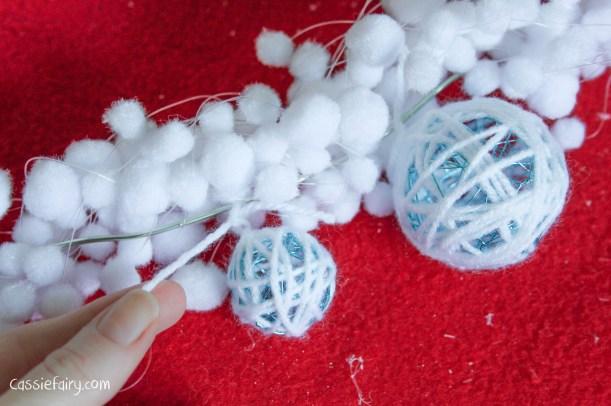 DIY christmas decoration mantlepiece garland ideas-6