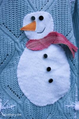 DIY christmas jumper festive snowman-14