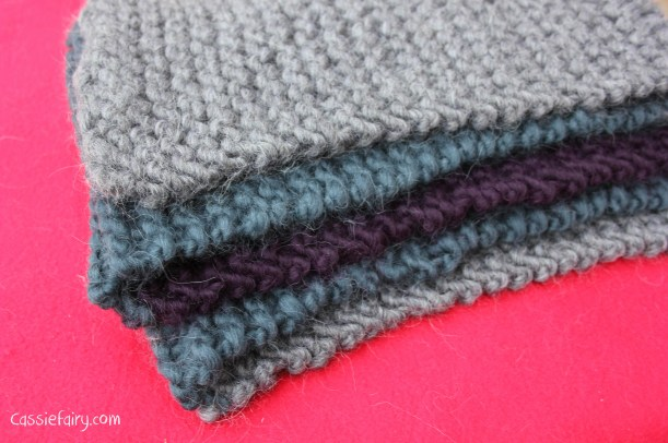 ombre colour block scarf knitting project-11