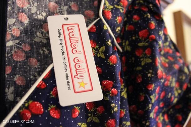 trollied dolly strawberry print tea dress-4