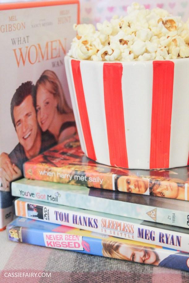 Thrifty DIY movie date night for Valentine's Day