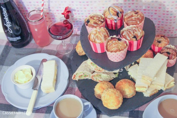 DIY afternoon tea date for Valentines Day or birthday celebration-6