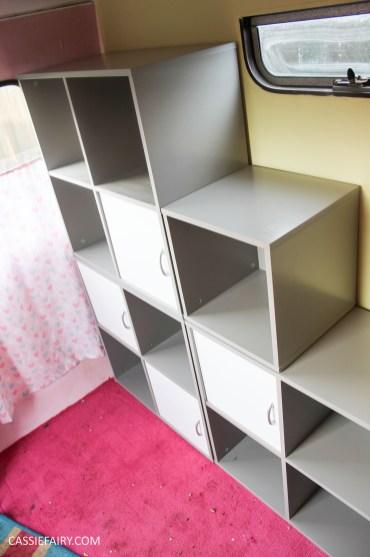 vertbaudet craft storage shelving solution for vintage caravan-10