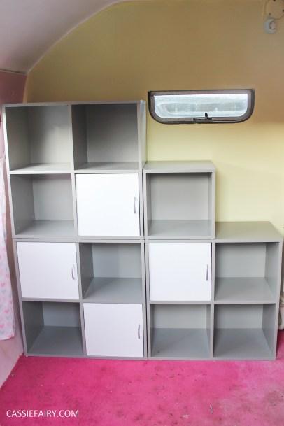 vertbaudet craft storage shelving solution for vintage caravan-9