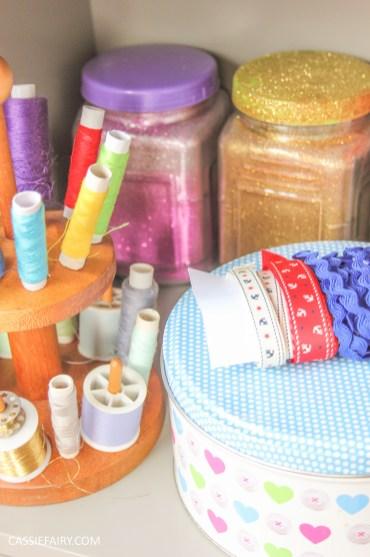 vintage caravan sewing workshop - storage solution for craft office-9