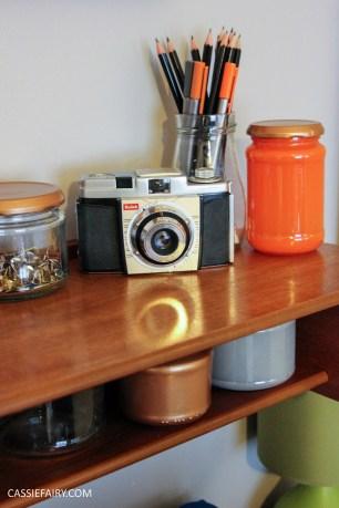 diy desk makeover project - mid-century modern-5