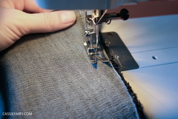diy sewing project denim jeans clutch bag-3