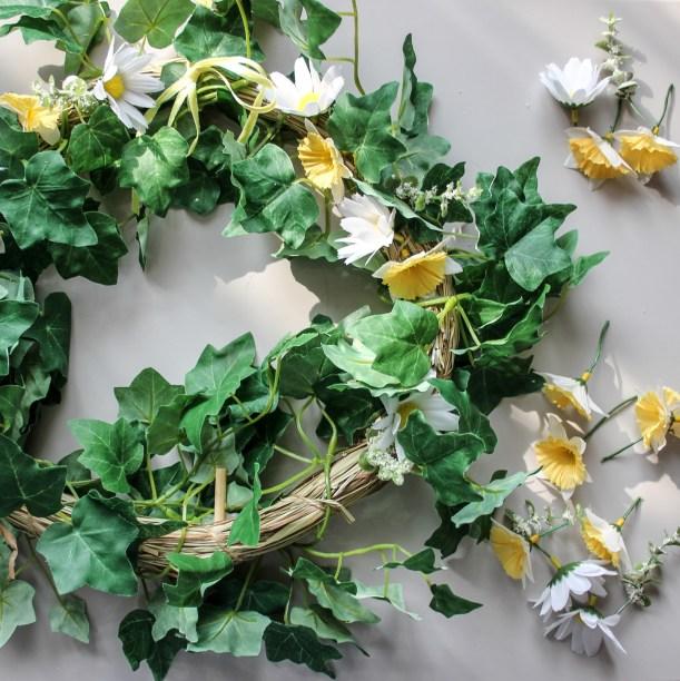 diy spring wreath by Cassiefairy step 3
