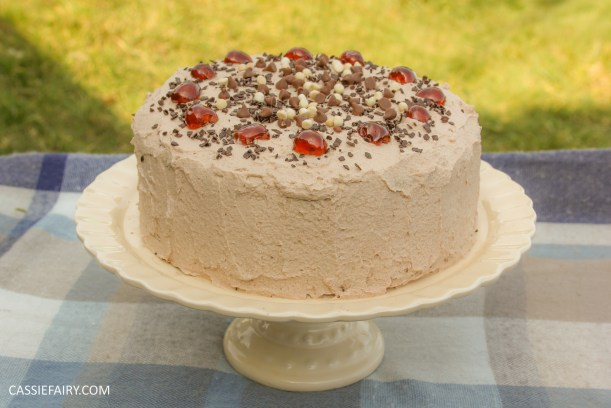 easy chocolate cherry cake baking recipe-3