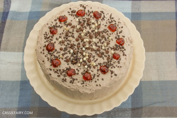 easy chocolate cherry cake baking recipe-4