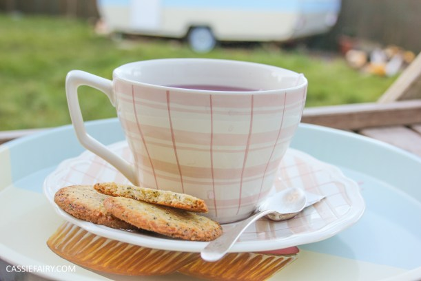 my favourite pink gingham tea cup