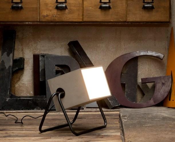 concrete box lighting industrial style