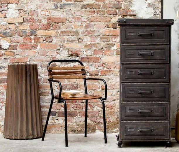 factory cabinet industrial interior design metal chair
