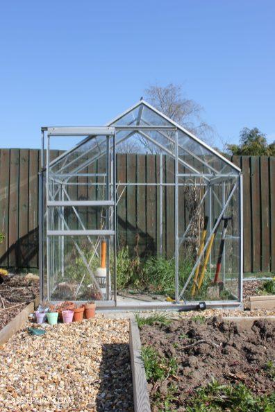 greenhouse spring makeover veggie patch