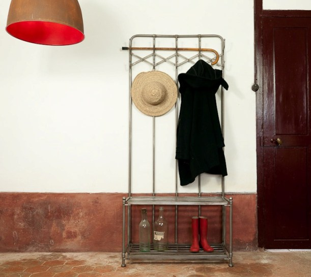 industrial coat rack entrance hallway decorating ideas