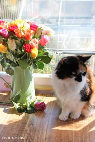 roses bouquet of flowers and vintage caravan_-11